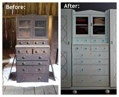 Wardrobe Makeover - painting old furniture