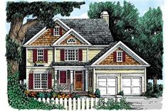 Country Exterior - Front Elevation Plan #927-820 - Houseplans.com