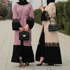 Close are the muslim women fashion clothing in dubai and in malaysia; women long dress middle east islamic clothing are classy, modest and chic as well. Muslim Women Fashion, Islamic Fashion, Abaya Fashion, Women's Fashion Dresses, Mode Abaya, Casual Hijab Outfit, Abaya Designs, Islamic Clothing, Sari