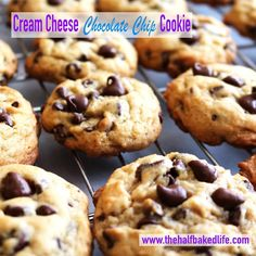 CREAM CHEESE CHOCOLATE CHIP COOKIES   Each cookie is 4 WW+ and 132 calories.  www.BurnFatFeelGreat.com #sweettreats #sweets #desserts #treat #treats