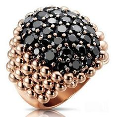 Rosamaria G Frangini | Modern Jewellery | Black Diamond Ring By Pasquale Bruni
