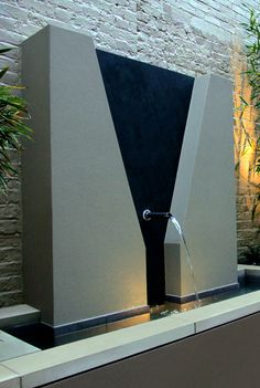 contemporary water feature structure