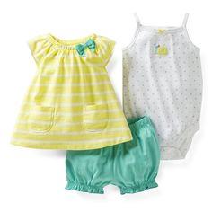New arrival 2014 original carters baby bodysuit girls dress+bodysuits+shorts 3pcs clothing set frozen Elsa suit sets
