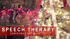 Speech Therapy Christmas Trees