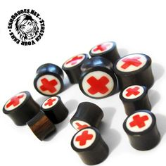 First aid wooden plugs Wooden Plugs, Ear Gauges, Body Mods, Piercings, Beauty, Style, Peircings, Swag, Body Modifications