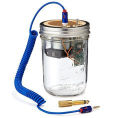 Mason Jar Speaker & Amplifier.  Completely self contained so you can bring it on the go with you