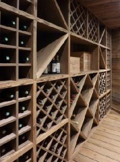 Wine racks diy network and how to build on pinterest - Meuble cave a vin en bois ...
