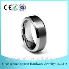 6MM Wedding Band For Men Tungsten Carbide Ring Engagement Ring Comfort Fit Beveled Edges