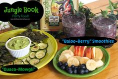 A #JungleFresh movie night with Baloo-berry Smoothies and Guaca-Mowgli to celebrate The Jungle Book on Blu-ray and DVD #SoFab #shop