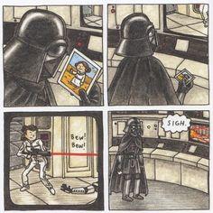 Vader's Little Princess by Jeffrey Brown - GeekMom