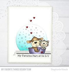 Stamps: Furever Friends Card Kit Die-namics: Furever Friends Card Kit, Starry Circle Stephanie Klauck #mftstamps