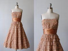 1950s Vintage Dress / 50s Dress / Lace Dress by TheVintageMistress