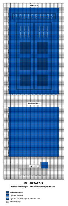 Tardis Knit Chart