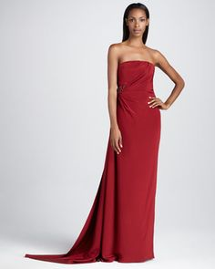 febbeccf993 David Meister Signature Strapless Gown with Beaded Embellishment