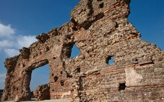 "The Roman settlement of Viroconium in Shropshire, near the modern village of Wroxeter, began life as a military fortress but later expanded into the fourth largest city in Roman Britain. This huge archway, known as ""The Old Work"", is said to be the biggest freestanding Roman ruin in the country.  Picture: Robin Weaver / Alamy"