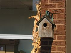 Bird houses in our Outdoor Classroom