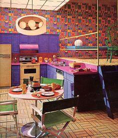 Retro mod pop kitchen... this will be my kitchen some day