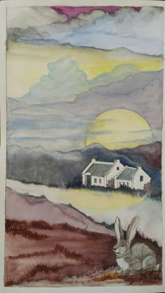 Full Moon and Hare in McGregor Full Moon, Hare, Paintings, Harvest Moon, Paint, Blue Moon, Painting Art, Draw, Painting