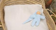 First Waldorf doll cuddle doll soft blue by MainsDeLaine on Etsy