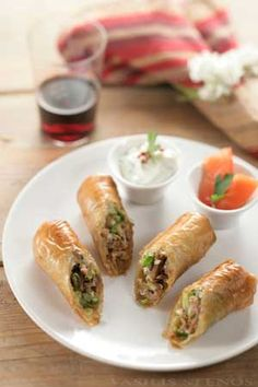 Filo pastry and leftover roasts like lamb or even pork or beef are a great match. In this dish leftover lamb morphs into a totally new dish, equally enticing.