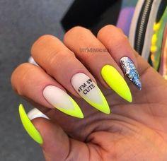 New Makeup Glitter Amarillo Ideas Camo Nails, Neon Nails, Swag Nails, Neon Nail Art, Nagellack Design, Fire Nails, Best Acrylic Nails, Colorful Nail Designs, Nail Manicure
