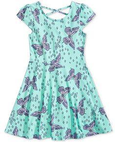 Epic Threads Big Girls Butterfly-Print Skater Super-Soft Dress, Created for Macy's Baby Girl Dress Patterns, Dresses Kids Girl, Kids Outfits Girls, Toddler Outfits, Baby Dress, Girl Outfits, Cotton Frocks For Kids, Kids Frocks Design, Girl Fashion