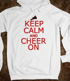 Keep Calm and Cheer On hoodie sweatshirt