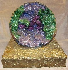 """Geode"" created by John R. Kohn using Durham's Rock Hard Putty. To contact the artist, email him at bluesinbflat@yahoo.com"