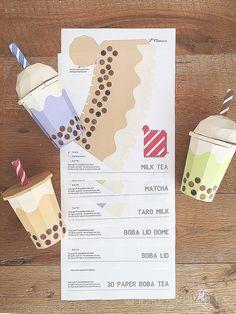 Bubble Tea Menu, NEW! …   bubble tea in 2019   Pinterest ...