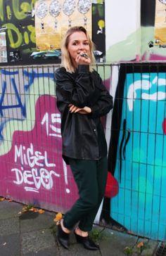 Crystal Ring Dorothee Schumacher #lederhemd #leder #ootd #lookbook #outfitoftheday #lotd #blogger #fashionblogger