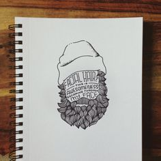 Awesomeness Escaping My Face Beard Illustration Hand Lettering Print Handwritten Typography, Hand Lettering, Beard Logo, Doodle Paint, Face Icon, Face Illustration, Hipster Logo, Clay Crafts, Love Art