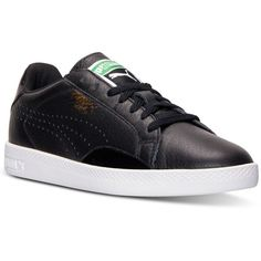 Puma Women's Match Lo Casual Sneakers from Finish Line ($40) ❤ liked on Polyvore featuring shoes, sneakers, puma sneakers, puma shoes, puma trainers, rubber sole shoes and puma footwear