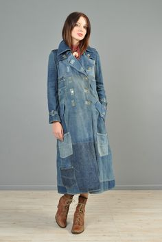 1-Of-A-Kind 1970s Custom Lee Patchwork + Pocket Denim Coat | BUSTOWN MODERN