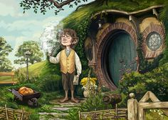O Hobbit, Jrr Tolkien, Whimsical Art, Lord Of The Rings, Middle Earth, Lotr, Mythology, Art Drawings, Fairy Tales