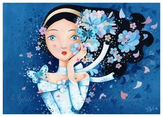 Print: Nuit bleu by Sybile on Etsy