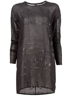 Ilaria Nistri Sheer Equation Print Tunic - L'eclaireur - Farfetch.com