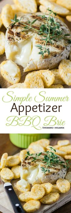Simple Summer Appetizer BBQ Brie will be your new easy favorite for backyard BBQs. Ooey, gooey, divine brie is spiced and grilled in a matter of minutes. Bbq Appetizers, Appetizer Recipes, Simple Appetizers, Appetizer Ideas, Brie Appetizer, Party Recipes, Dip Recipes, Cheese Recipes, Backyard Bbq