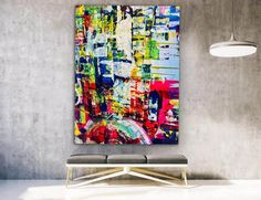 Vibrant abstract painting abstract art colorful painting image 1 Colorful Artwork, Colorful Paintings, Abstract Wall Art, Painting Abstract, Kids Room Paint, Extra Large Wall Art, Office Wall Art, Modern Wall Decor, Living Room Art