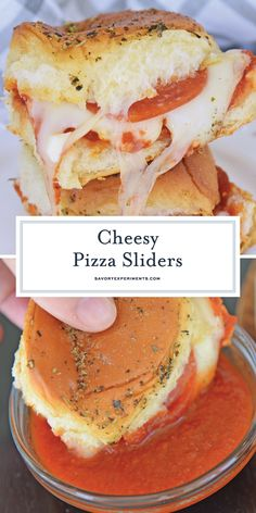 Cheesy Pizza Sandwich Sliders are easy to make with just 4 ingredients and the best for parties. Loved by kids and adults! Pizza Sandwich, Soup And Sandwich, Sandwich Sides, Chicken Sandwich, Slider Sandwiches, Kid Sandwiches, Appetizer Sandwiches, Pizza Slider, Slider Recipes