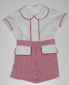 Ropa para bebe. Conjuntos de camisa y pantalón para bebe realizados a mano de la mejor calidad, en telas de piqué, villelas, batista, ideales. www.mibebesito.es