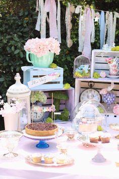 Shabby Chic Alice in Wonderland Baby Shower