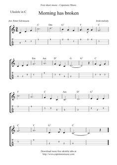 Free Sheet Music Scores: Ukulele tabs