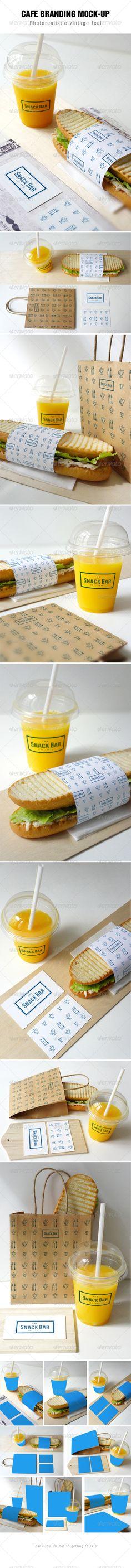 Cafe Branding Mockup - Food and Drink Packaging