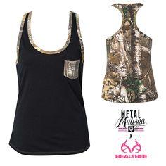Metal Mulisha Maidens Realtree Outdoors Conceal Tank. Womens camo tank. http://goo.gl/JiRX74