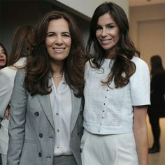 「Roberta Armani with Christina Pitanguy (@ChrisPitanguy) at the show. #MFW」