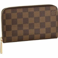 Louis Vuitton Zippy Wallets in Damier Ebene Canvas Fashion Heels c42cdbb82b6ce