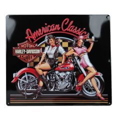 vintage harley davidson signs for sale | Harley Davidson American Classic Babes Sign Ande Rooney Signs