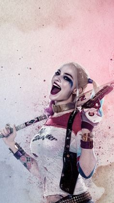 Suicide Squad Harley Quinn Android Wallpaper high quality mobile wallpapers for your iPhone, android or tablet - beautiful and inspiring smartphone backgrounds for free. Joker Y Harley Quinn, Harley Quinn Drawing, Margot Robbie Harley Quinn, Harley Quinn Cosplay, Deadpool Cosplay, Der Joker, Joker Art, Harley Queen, Hearly Quinn