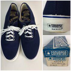 485d5b4d6d3 Vintage NOS Deadstock 1970s Converse Nautilus Blue Canvas Tennis Shoes    Women s 7 Half   70s
