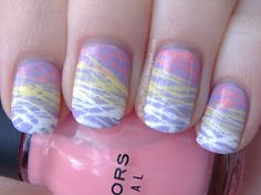 I love doing this method!!!!  These are GREAT colors for Easter!!!!